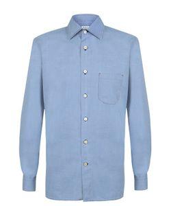 Kiton | Хлопковая Рубашка С Воротником Кент