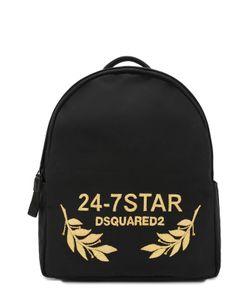 Dsquared2 | Текстильный Рюкзак С Отделкой Из Натуральной Кожи