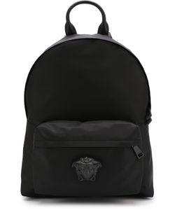 Versace | Текстильный Рюкзак С Внешним Карманом На Молнии