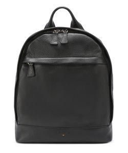 Santoni | Кожаный Рюкзак С Внешним Карманом На Молнии