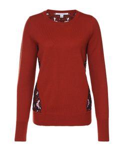 Diane Von Furstenberg | Пуловер Прямого Кроя С Контрастной Кружевной Спинкой