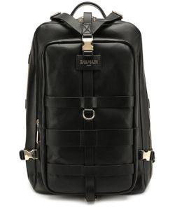 Balmain | Кожаный Рюкзак С Декоративными Ремешками