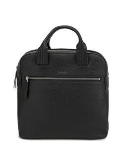 DKNY | Кожаный Рюкзак С Двумя Ручками И Внешним Карманом