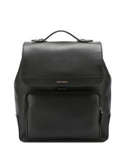 Dolce & Gabbana | Кожаный Рюкзак Mediterraneo С Клапаном И Внешним Карманом На Молнии Dolce