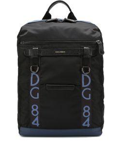 Dolce & Gabbana | Текстильный Рюкзак Mediterraneo С Отделкой Из Натуральной Кожи