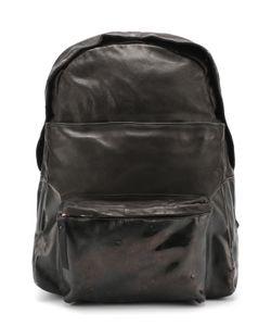 OXS RUBBER SOUL | Кожаный Рюкзак С Внешним Карманом На Молнии