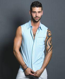 Andrew Christian | Рубашка Голубая 2370
