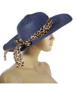 Без бренда | Шляпа С Лентой Темно-Синего Цвета