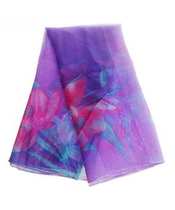 Без бренда | Фиолетовое Парео С Цветами 144031