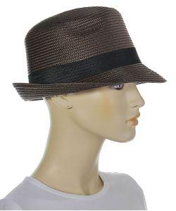 Без бренда | Классическая Шляпка Кофейного Цвета