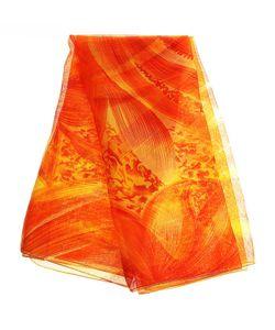 Без бренда | Оранжевое Парео С Цветком 144008
