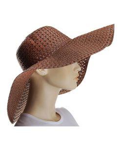 Без бренда | Коричневая Шляпа С Дырочками