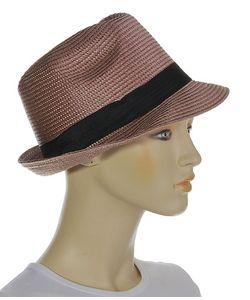 Без бренда | Коричневая Шляпка С Небольшими Полями