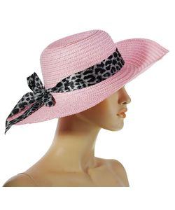 Без бренда | Розовая Шляпа С Лентой