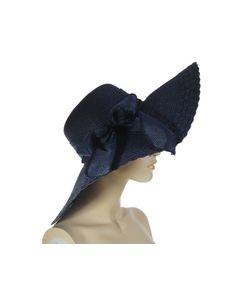 Без бренда | Шляпка Темно-Синего Цвета С Бантом