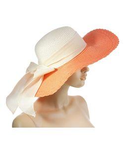 Без бренда | Шляпа 134922 Бежево-Кораллового Цвета