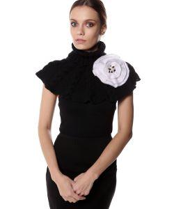 SEANNA | Брошь Цветок Мак Вязаный Вручную С Густо Расшитой Серединкой Жемчугом