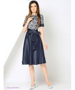 RIJJINI | Платье С Кружевным Верхом И Юбкой Из Тяжелого Атласа