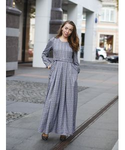 Hello Russia | Платье Длинное В Клетку