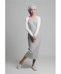 Bella Kareema | Платье Миди С Рукавом Реглан Молочное