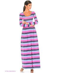 ANASTASIA PETROVA | Длинное Платье Полоска Серо-Розовая
