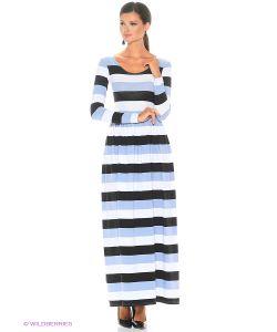 ANASTASIA PETROVA | Длинное Платье Полоска Серо-Белая