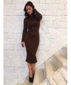 FIRMA | Силуэтное Платье С Длинным Рукавом