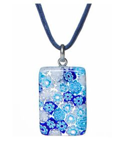 Bottega Murano | Кулон 23 Цвет 101 На Вощеной Нити Синего Цвета