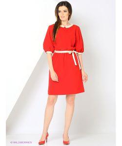 RIJJINI | Платье Из Крепа С Атласной Отделкой