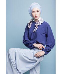 Bella Kareema | Блуза С Объемными Рукавами Синяя