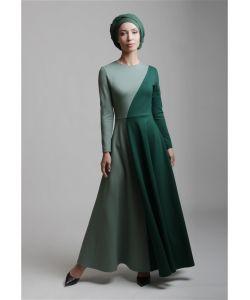 Bella Kareema   Платье Трикотажное Макси Двухцветное