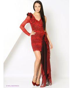 SEANNA | Платье Вечернее Цветок Любви Из Кружева Стрейч С Шелковым Шифоном