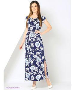 RIJJINI | Прямое Платье В Пол Из Мягкой Эластичной Ткани