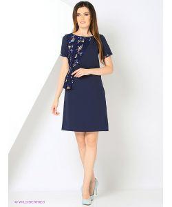 RIJJINI | Офисное Платье С Отделкой Шифоном