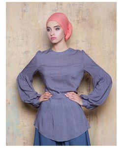 Bella Kareema | Блуза Летняя С Пышным Рукавом Из Вискозы С Узором