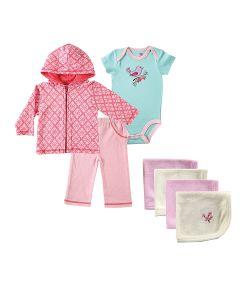 Hudson Baby | Комплект Боди К/Р Жакет Штанишки Салфетки Для Купания
