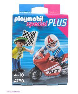 Playmobil   Мальчики С Гоночным Мотоциклом