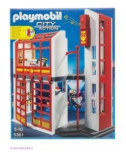 Playmobil   Пожарная Станция С Сигнализацией