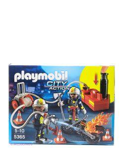 Playmobil   Пожарная Служба Пожарники С Водяным Насосом