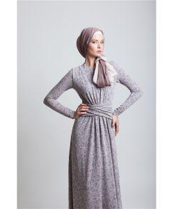 Bella Kareema | Платье Макси Трикотажное С Декоративным Поясом