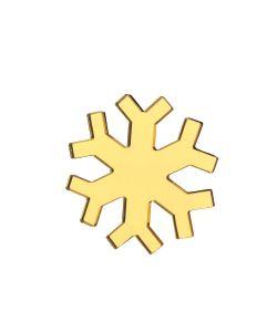 НечегоНадеть | Брошь Снежинка Золото