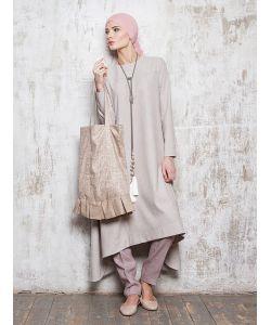 Bella Kareema | Платье Летнее Асимметричное Бежевое