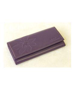 Paolo Veronese | Портмоне Большое Фиолетовое Цветы Фиолет