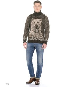 Dorothy's Нome | Свитер Мужской Premium-Lama Дизайн Медведь