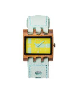 Mistura | Часы Lenzo Mint/Teak Neon