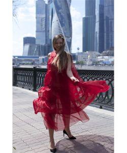 St.Radost | Платье Миди Из Органзы Без Подкладки