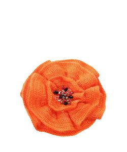 SEANNA | Брошь-Цветок Вязаный Вручную Мак Расшитый Натуральным Жемчугом Стразами Swarovski
