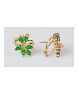 Lotus Jewelry | Серьги Фианит 6 Камней