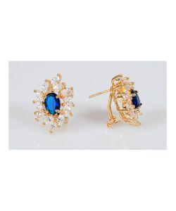 Lotus Jewelry | Серьги Шпинель В Стразах