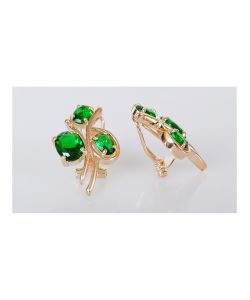 Lotus Jewelry | Серьги Фианит Бант